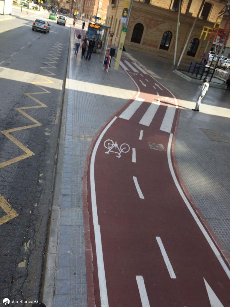 Jalankulku ja pyöräilyväylä, Malaga, 2018