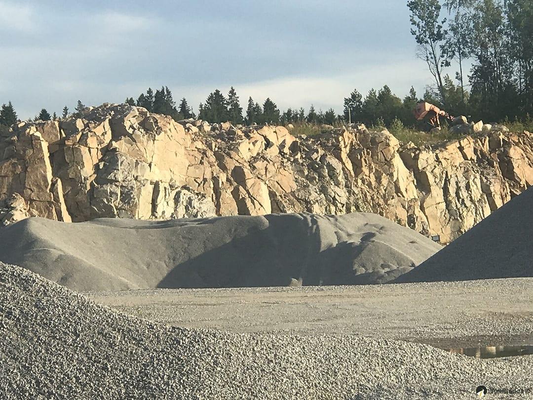 Kallioleikkaus, kunnossapitomurskeen ottoalue, 2017