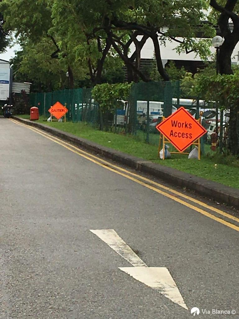 Tietyöstä varoittaminen, Singapore, 2016